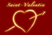 Valentine's Day - French writing — Stock Photo
