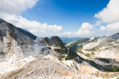 Carrara's marble quarries in Italy — Stock Photo