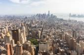 Panoramik şehir merkezinde ve aşağı E görüldüğü gibi Manhattan — Stok fotoğraf