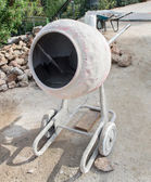 Cement mixer at a work — Stock Photo