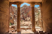 Carved into the  city of Petra — Stock Photo