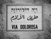 Street sign Via Dolorosa — Stock Photo