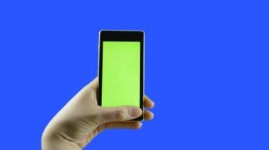 Phone with chroma key — Stock Video