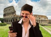 Illegal web browsing in rome — Stock Photo