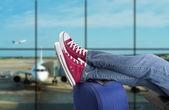 Teenage passenger — Стоковое фото