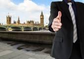 Handshake in London city — Stock Photo