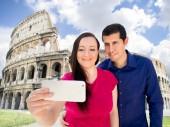 Selfie a Roma — Foto Stock