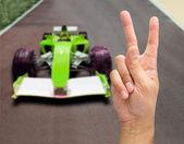 Sieg auf der Auto-Schaltung — Stockfoto