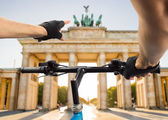 Tourism in bicycle at Berlin — Stock Photo
