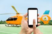 Wynajmu helikoptera — Zdjęcie stockowe