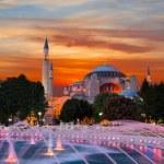 Hagia Sophia with lantern light — Stock Photo #58860311