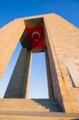 Canakkale Martyrs' Memorial, Turkey for battle of Gallipoli — Stock Photo