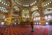 Interior of the Selimiye Mosque — Stock Photo