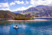 Oludeniz is one of the most famous beach in Turkey — Stock Photo