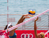Mediterranean Game, Beach Volleyball tournament — Stock Photo