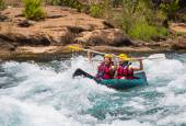 Water rafting on the rapids of river Manavgat — Stock Photo