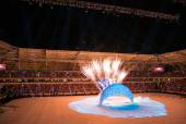 Mediterranean Games, Opening Ceremony of Mersin Stadium — Stock Photo
