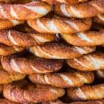 Turkish traditional sesame bagels. (simit) — Stock Photo #64174895