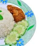 Nasi lemak traditional malaysian spicy rice dish — Stock Photo #56195889
