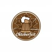 Brown Oktoberfest stamp — Stock Vector