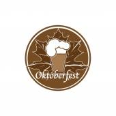 Brown Oktoberfest stamp — Stock Vector