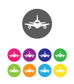 Flat air plane icons — Stock Vector