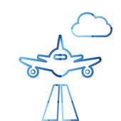 抽象多彩简约空气平面标志 — 图库矢量图片