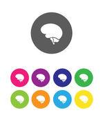 Minimal brain icon — Stock Vector