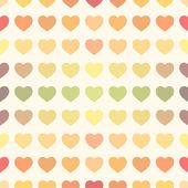 Colorful rainbow retro hearts background — Stockvector