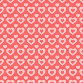 Pink and red hearts Valentine background — Stockvektor