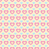 Kleurrijke retro harten naadloze Valentine — Stockvector