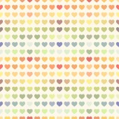 Seamless abstract colorful rainbow Valentines background — Cтоковый вектор