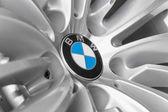 BMW logotype on light alloy new design car wheel — Stock Photo