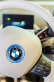 White interior of environmentally friendly full-time electric BM — Stock Photo