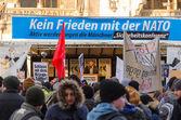 European anti-NATO protest meeting — Stock Photo