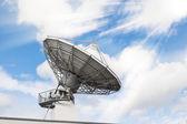 Telecommunications radar parabolic radio antenna — Stock Photo