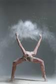 Dancer and flour — Stock Photo