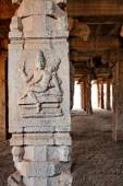 Details of a temple, Hampi, Karnataka state, India — Stock Photo