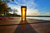 Autumn beer — Stock Photo