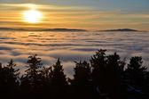 İnversiyon gün batımı — Stok fotoğraf