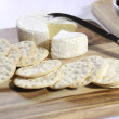 Постер, плакат: Close of up of cheese platter with camembert cheese platter