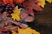 Fallen Herbst Erntedankfest Hintergrund — Stockfoto