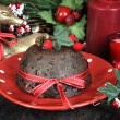 English style Christmas plum pudding dessert — Stock Photo #53130037