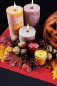 Happy Halloween Table Settings — Stock Photo