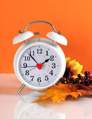 Daylight savings time clock — Stock Photo