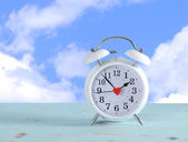 Daylight savings time clock — Stockfoto