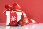 Red and white Christmas — Stock Photo
