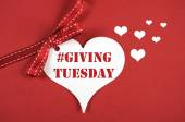 Giving Tuesday Heart Message — Stock Photo