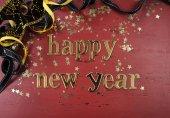 С новым годом стола — Стоковое фото