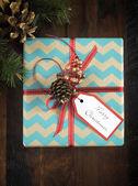 Boîte de cadeau de Noël Vintage — Photo